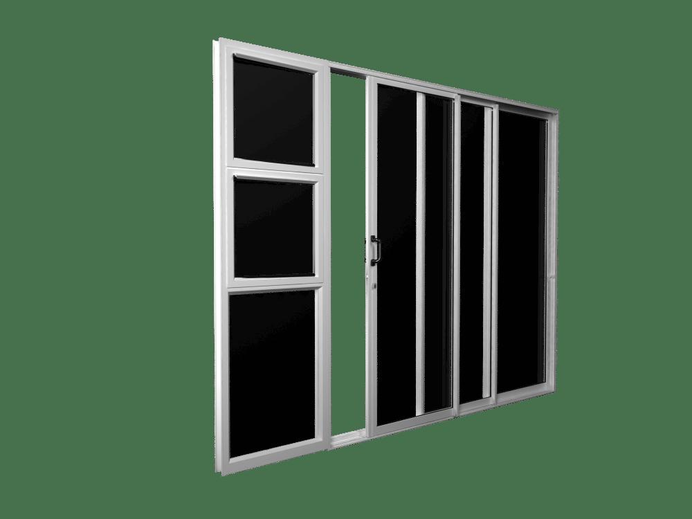 crealco patio door with regal handle
