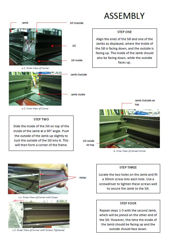 sliding door assembly guide p2