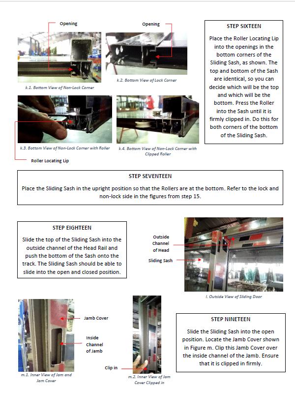 sliding door assembly guide p5