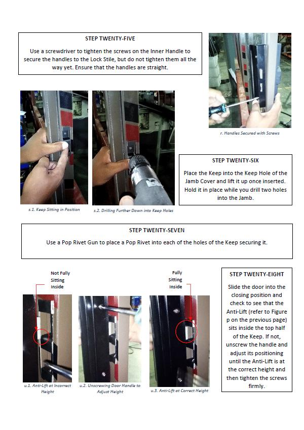 sliding door assembly guide p7