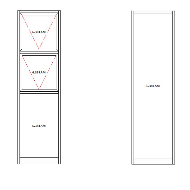 aluminium door sidelites combined